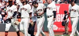 Giants' Jarrett Parker breaks clavicle making incredible catch