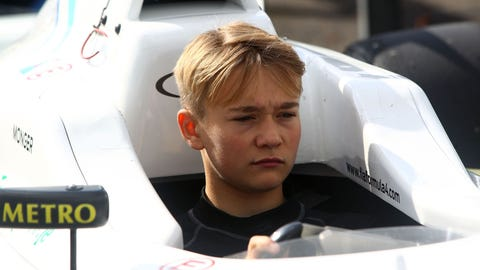 Billy Monger was airlifted to hospital after hitting a stationary car in a British F4 race. (Photo: LAT Photographic)