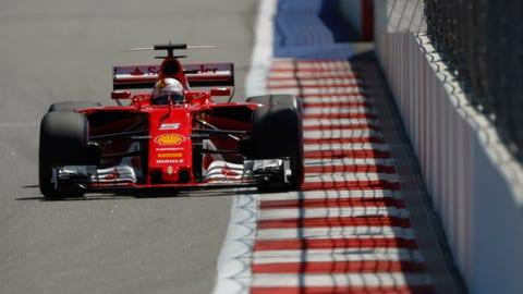 Sebastian Vettel will start on pole for the Russian GP. (Photo: Glenn Dunbar/LAT Images)