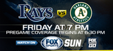 Preview: Rays look to break .500 in weekend series vs. A's