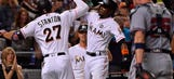 Marlins fall 5-4 after Braves rally in 8th inning