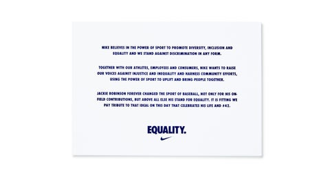 Nike's message of equality, inspired by Robinson