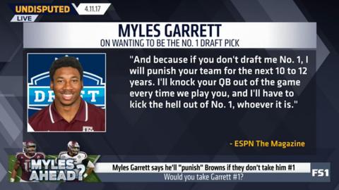 Myles Garrett: I will punish any team that doesn't draft me No. 1