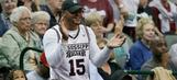 Dak cheering his school in Women's Final Four in Dallas