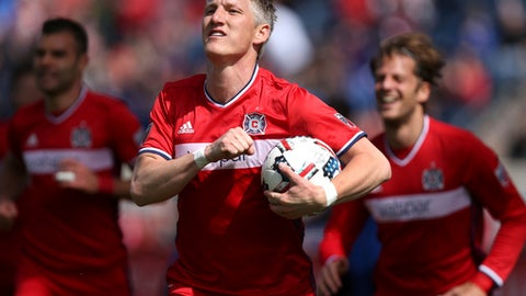 Schweinsteiger arrived in Chicago ready to play