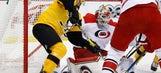 Penguins hold on late, edge Hurricanes 3-2