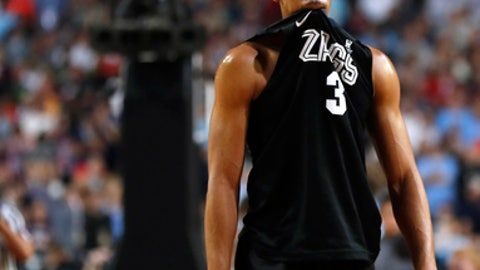 Gonzaga forward Johnathan Williams walks off the court at the end of the championship game against North Carolina at the Final Four NCAA college basketball tournament, Monday, April 3, 2017, in Glendale, Ariz. North Carolina 71-65. (AP Photo/Charlie Neibergall)
