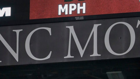 The scoreboard shows a pitch speed of 94 mph as Los Angeles Angels relief pitcher Blake Parker throws against the Seattle Mariners during the ninth inning of a baseball game Friday, April 7, 2017, in Anaheim, Calif. From watching broadcasts and scoreboards, fans are seeing velocities ramp up around the majors this year. Check the leaderboards at analytics website Fangraphs, and you'll see that last April, pitchers averaged 92.2 mph on four-seam fastballs. Through Thursday's games this season, they're up to 93.1 mph, an unprecedented jump. Did some 300 pitchers all find ways to boost their speed in the offseason? Not quite. More likely, the perceived speed spike is coming from a change in how pitches are being recorded and reported.(AP Photo/Jae C. Hong)
