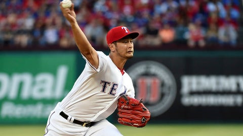 Darvish better, but still erratic