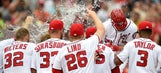 Harper's homer in 9th, 2nd of day, lifts Nats over Phils 6-4
