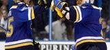 Blues top Wild 3-1, grab 3-0 series lead