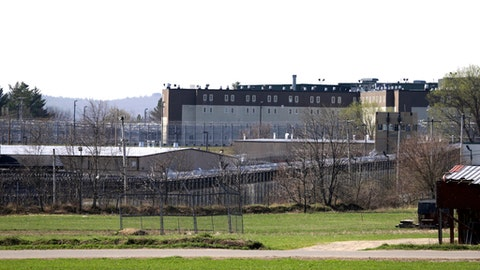 This photo shows the Souza-Baranowski Correctional Center on Wednesday, April 19, 2017, in Shirley, Mass. Former NFL star Aaron Hernandez, who was serving a life sentence for a murder conviction and just days ago was acquitted of a double murder, died after hanging himself at the prison early Wednesday, Massachusetts prisons officials said. (AP Photo/Elise Amendola)