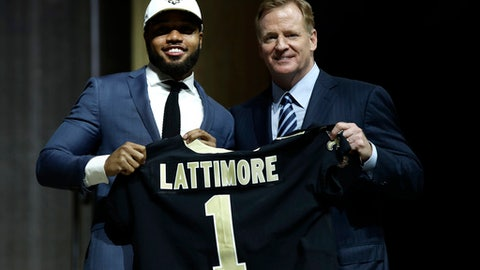 New Orleans Saints: CB Marshon Lattimore (1st round, No. 11)