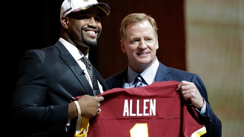 Washington Redskins: DL Jonathan Allen (1st round, No. 17)