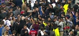 Pitch invaded ahead of Lyon-Besiktas Europa League match