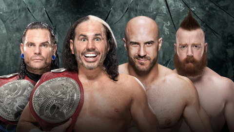 The Hardy Boyz vs. Cesaro and Sheamus for the Raw Tag Team Championship