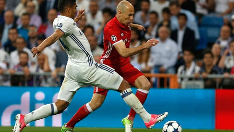 The challenge on Arjen Robben was a penalty
