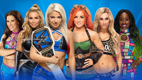 Alexa Bliss vs. Becky Lynch vs. Natalya vs. Mickie James vs. Carmella vs. Naomi for the SmackDown Women's Championship