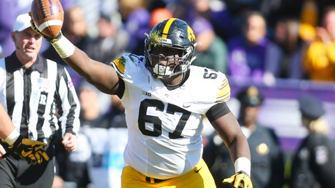 63. Falcons: Jaleel Johnson - DT - Iowa