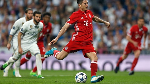 Robert Lewandowski really loves scoring against Real Madrid