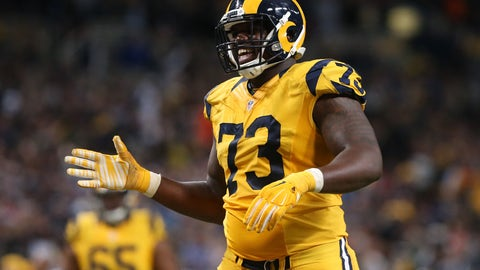 Dec 17, 2015 St. Louis, MO, USA; St. Louis Rams tackle Greg Robinson (73) against the Tampa Bay Buccaneers at the Edward Jones Dome. The Rams won 31-23. Mandatory Credit: Aaron Doster-USA TODAY Sports