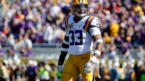 Dec 31, 2016; Orlando , FL, USA; LSU Tigers safety Jamal Adams (33)  against the Louisville Cardinals during the first half at Camping World Stadium. Mandatory Credit: Kim Klement-USA TODAY Sports