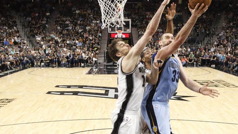 Spurs over Grizzlies in five games