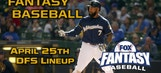 Daily Fantasy Baseball Advice – April 25