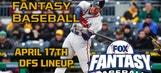 Daily Fantasy Baseball Advice – April 17
