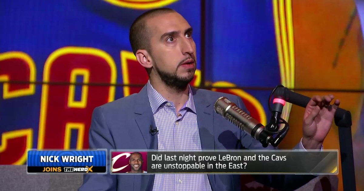 f5154b8cc59d Nick Wright makes an incredible case for LeBron s MVP-worthy season ...