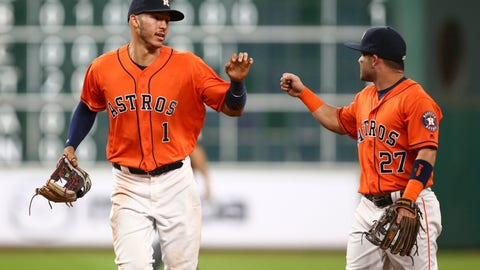 The Houston Astros will win the A.L. West...