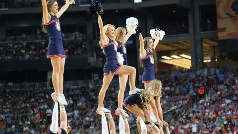 Gonzaga cheerleaders.