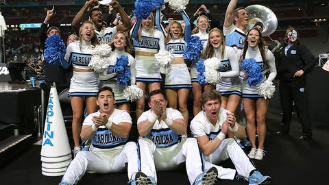 North Carolina's cheer squad.
