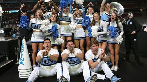 North Carolina's cheer squad.