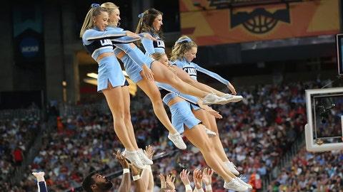 North Carolina cheerleaders.