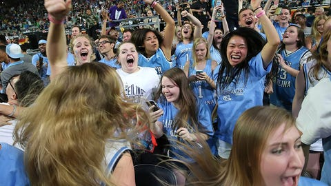North Carolina fans will be back for more on Monday.