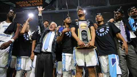 A championship photo op for North Carolina.