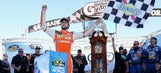 Chase Elliott holds off Johnny Sauter to win Truck Series race at Martinsville