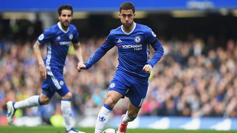 Left midfielder: Eden Hazard
