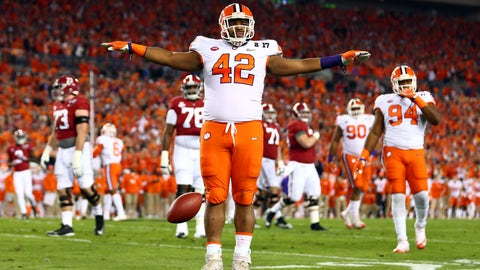 Browns (From Texans): Christian Wilkins, DL, Clemson
