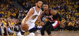Warriors lock in defensively to pull away for Game 1 win over Trail Blazers