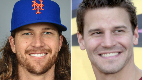New York Mets SP Jacob deGrom and actor David Boreanaz