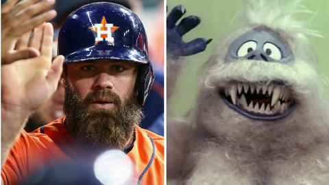Houston Astros DH/C Evan Gattis and the Abominable Snowman