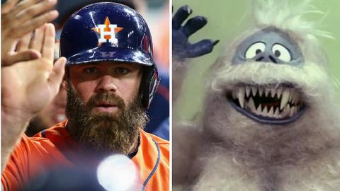 Houston Astros DH/C Evan Gattis and the Abominable Snowman