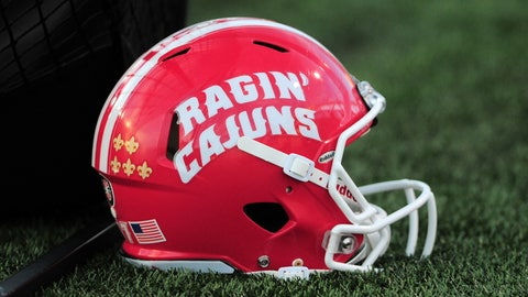 22 October 2016: A Louisiana Lafayette helmet during 27 - 3 win over Texas State at Jim Wacker Field at Bobcat Stadium in San Marcos, TX. (Photo by John Rivera/Icon Sportswire via Getty Images)
