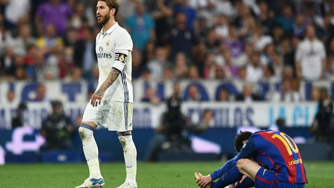 Real Madrid walked the line the entire match