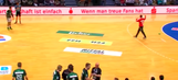 Video: Handball goalie gives up the dumbest goal imaginable