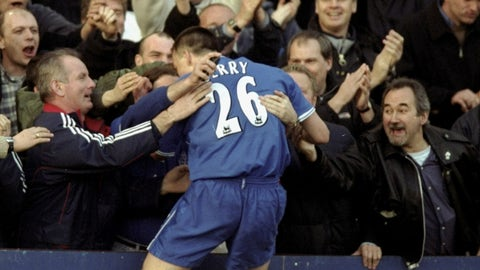 February 2000: A first goal of many for Terry