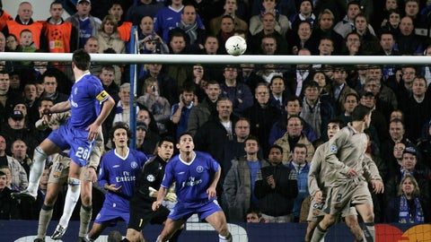 March 2005: Terry scores a Champions League game-winner