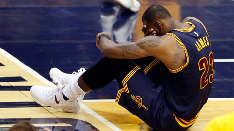 LeBron averaged 43.8 minutes per game in the series
